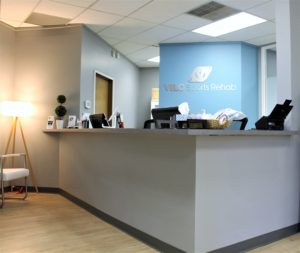 See the front desk for new patient information.